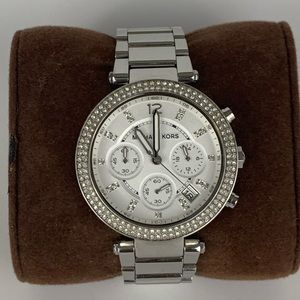 Michael Kors Chronograph Parker Silver Watch 39mm